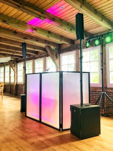 Aufbau vom Hochzeit DJ in Hamburg