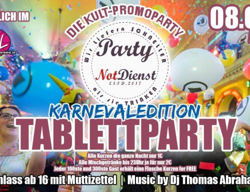 DJ Thomas Abraham bei der Tablettparty Karneval-Edition meets Shots